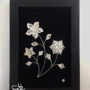قاب گل نقره بی ریایی
