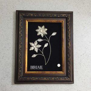 قاب گل نقره ملیله